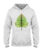 Dragonfly Christmas Tree Hooded Sweatshirt tile