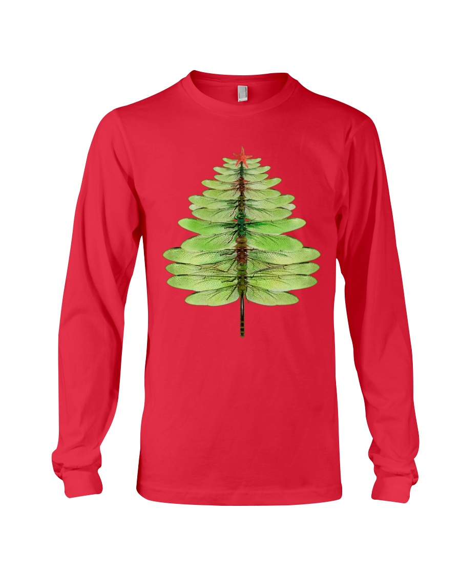 Dragonfly Christmas Tree Long Sleeve Tee