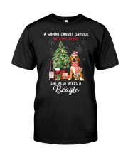 Christmas Wine and Beagle Classic T-Shirt thumbnail