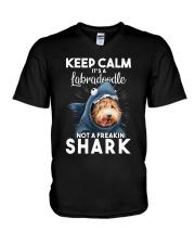 It's A Labradoodle Not A Freakin Shark V-Neck T-Shirt thumbnail