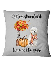 The Most Wonderful Time - Maltipoo Square Pillowcase thumbnail