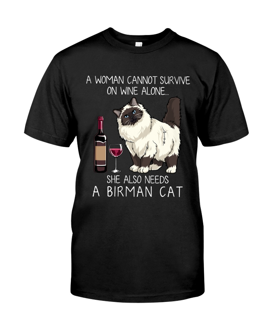 Wine and Birman Cat Classic T-Shirt