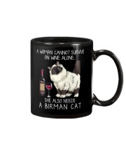 Wine and Birman Cat Mug thumbnail