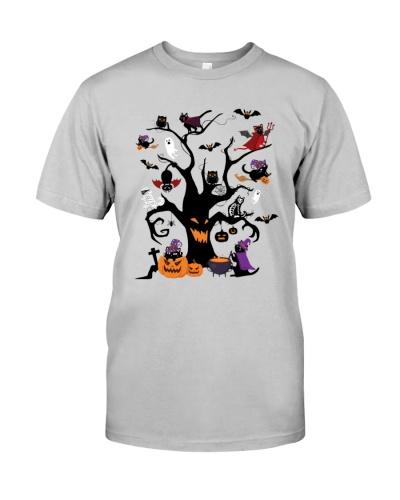 Halloween Cats Tree