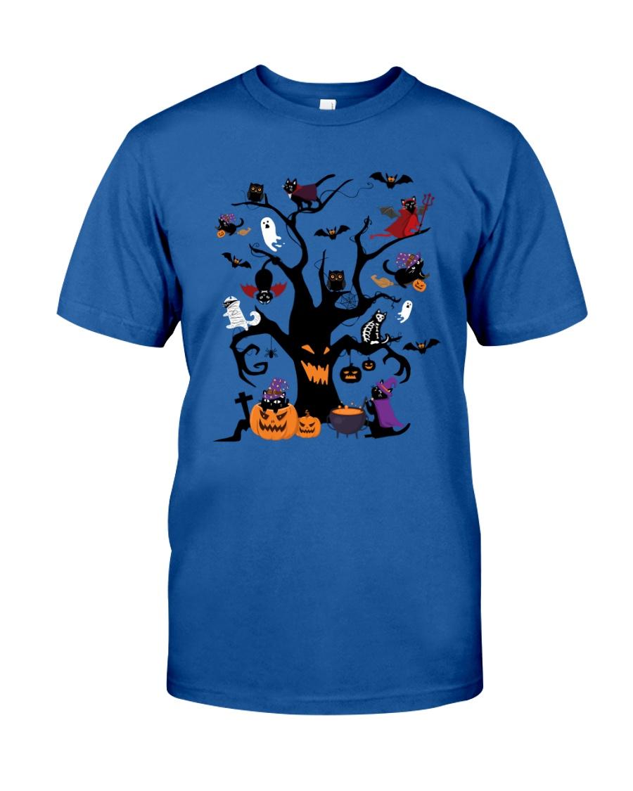 Halloween Cats Tree Classic T-Shirt