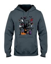 Halloween Cats Tree Hooded Sweatshirt thumbnail