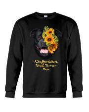 Staffordshire Bull Terrier Mom Crewneck Sweatshirt thumbnail