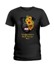 Staffordshire Bull Terrier Mom Ladies T-Shirt thumbnail