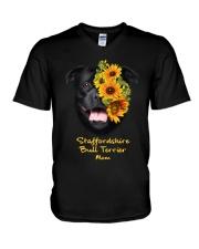 Staffordshire Bull Terrier Mom V-Neck T-Shirt thumbnail