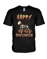Happy Howloween - Schnauzer V-Neck T-Shirt thumbnail