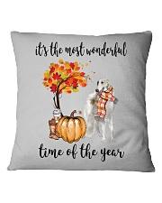 The Most Wonderful Time - Borzoi Square Pillowcase thumbnail