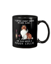 Wine and Rough Collie Mug thumbnail