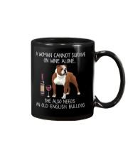 Wine and Old English Bulldog Mug thumbnail