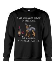 Wine and Prague Ratter Crewneck Sweatshirt thumbnail