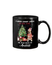 Christmas Wine and Amstaff Mug thumbnail