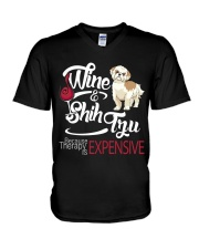 Shih Tzu - Therapy is expensive V-Neck T-Shirt thumbnail