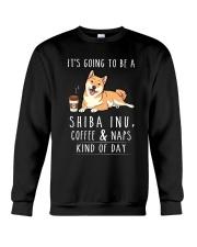 Shiba Inu Coffee and Naps Crewneck Sweatshirt thumbnail