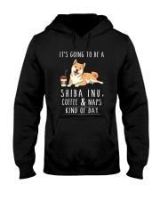 Shiba Inu Coffee and Naps Hooded Sweatshirt thumbnail