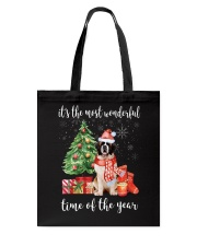 The Most Wonderful Xmas - Wire Fox Terrier Tote Bag tile