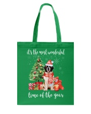 The Most Wonderful Xmas - Wire Fox Terrier Tote Bag front