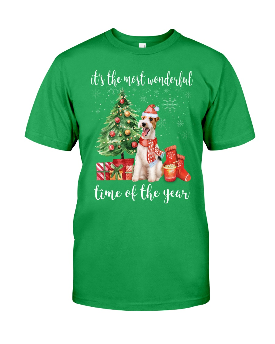 The Most Wonderful Xmas - Wire Fox Terrier Classic T-Shirt