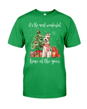 The Most Wonderful Xmas - Wire Fox Terrier Classic T-Shirt front