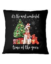 The Most Wonderful Xmas - Wire Fox Terrier Square Pillowcase tile