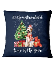 The Most Wonderful Xmas - Wire Fox Terrier Square Pillowcase front