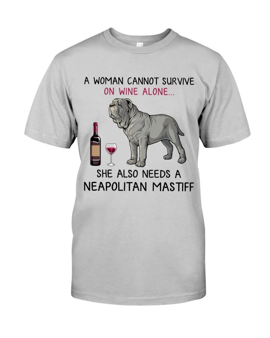 Wine and Neapolitan Mastiff 2 Classic T-Shirt