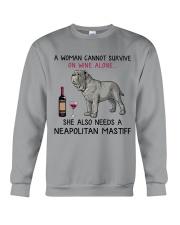 Wine and Neapolitan Mastiff 2 Crewneck Sweatshirt thumbnail