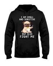 Small and Sensitive Pug Hooded Sweatshirt thumbnail