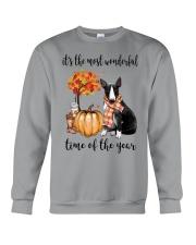 The Most Wonderful Time - Black White Bull Terrier Crewneck Sweatshirt thumbnail