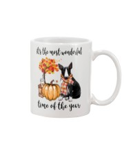 The Most Wonderful Time - Black White Bull Terrier Mug thumbnail