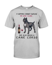 Wine and Cane Corso 4 Classic T-Shirt front