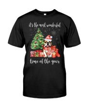 The Most Wonderful Xmas - Bulldog Classic T-Shirt thumbnail