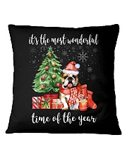 The Most Wonderful Xmas - Bulldog Square Pillowcase tile