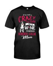 Crazy Lady Border Collie Classic T-Shirt front