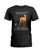 Wine and Greyhound 3 Ladies T-Shirt thumbnail