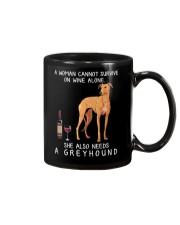 Wine and Greyhound 3 Mug thumbnail