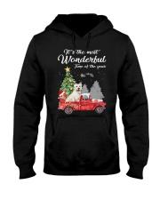 Wonderful Christmas with Truck - Westie Hooded Sweatshirt thumbnail