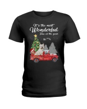 Wonderful Christmas with Truck - Westie Ladies T-Shirt thumbnail