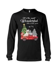 Wonderful Christmas with Truck - Westie Long Sleeve Tee thumbnail