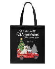 Wonderful Christmas with Truck - Westie Tote Bag thumbnail
