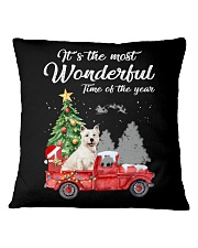 Wonderful Christmas with Truck - Westie Square Pillowcase thumbnail