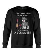 Wine and Schnauzer Man version  Crewneck Sweatshirt thumbnail