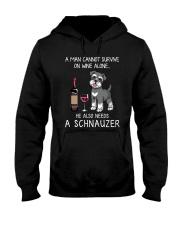Wine and Schnauzer Man version  Hooded Sweatshirt thumbnail