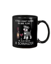 Wine and Schnauzer Man version  Mug thumbnail