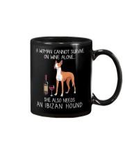 Wine and Ibizan Hound Mug thumbnail