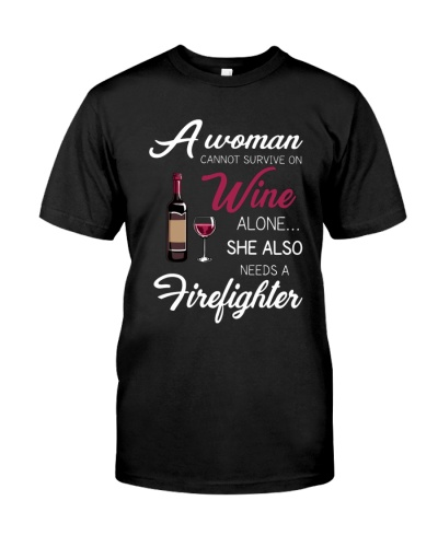 Wine and A Firefighter