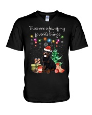 A Few of My Favorite Things - Rottweiler V-Neck T-Shirt thumbnail